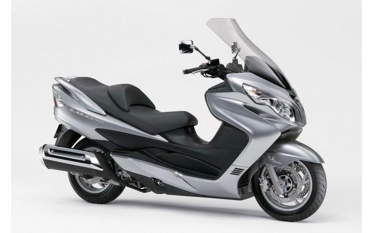 Plaatset Maxi scooter Suzuki Burgmann 13 delig zilver metallic bj. 2007 tot 2012